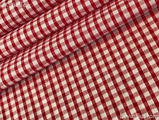 TOP QUALITY RED AND WHITE CHRISTMAS GINGHAM WOVEN FABRIC PER HALF METRE
