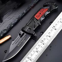 Tactical Spring Assisted Opening Folding Knife Rescue Pocket Knife Multitool