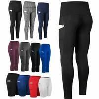Women's Yoga Pants Fitness Leggings Training Running Gym Exercise Sports Trouser