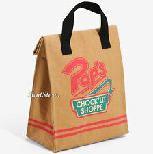 Riverdale Pop's Chocklit' Shoppe Insulated Lunch Sack School Cooler Bag Box NWT
