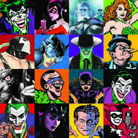 SIGNED by NINE ARTISTS Adams Timm Faces of Evil DC Giclee on Canvas Lt Ed of 100