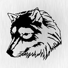 LOUP WULF Shepherd Husky Head Tuning Noir Voiture Vinyle Décalque Sticker Autocollant