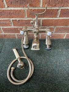 Traditional Brass Antique Gold  Bath Taps Ideal Country Cottage Bristan £75