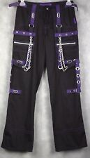 Tripp NYC Women's Gothic Steampunk Chains Pants Black Purple SIZE 1