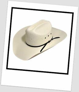 Bailey Western Stockman 4X Straw Cowboy Hat ~Size 7 3/8 59 CM
