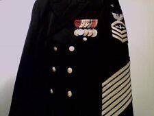 Marina Us Master Capo Abito Giacca/Seconda Guerra Mondiale 5- Campaign Medaglie