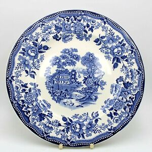 """Vintage Alfred Meakin Blue And White Dinner Plate Tonquin UNUSED 10"""""""