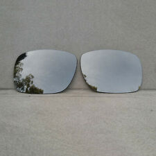 Black Iridium Mirrored Replacement Lenses for-Oakley Holbrook Sunglass Polarized