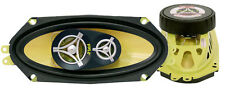 Pair New Pyle PLG41.3 4'' x 10'' 300 Watt Three-Way Speakers Car Audio