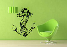 Wall Vinyl Sticker Room Decals Mural Design Anchor Feather Beautiful Sea bo2106