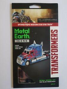 Transformers Metal Earth ICONX Optimus Prime Western Star 5700 Truck metal kit
