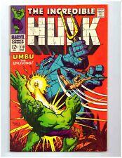 THE INCREDIBLE HULK #110 * Ka-zar Story Part 2 * 1968 * Marvel * 9.0 VF/NM
