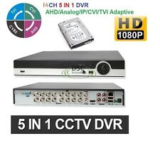 CCTV Security 16CH DVR/ HVD/ NVR 1080P/720P/ 960H/D1 Network Onvif with 2TB HDD