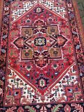 ANTIQUE BEAUTIFULLY DECORATED HANDMADE RUG/CARPET HERIZ -FREE SHIPPING-