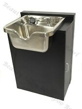 Shampoo Sink Cabinet Stainless Steel Bowl Salon Equipment TLC-1167-FC