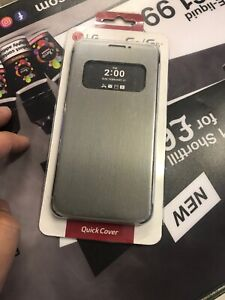 Original LG MESH FLIP PROTECTIVE FOLIO QUICK COVER CASE CFV-160 for LG G5 Grey
