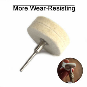 "2"" Round Polishing Wheel Wool Felt Polisher Buffing Pad Disc Dremel Rotary Tool"