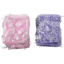 4X(100pcs Mixed Organza Pouch Gift Wedding Bead Candy Gift Bags Pouches M7D2)