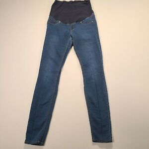 H&M Blue Denim Maternity Women Size 10 High Rise Pull On Mama Super Skinny Jeans