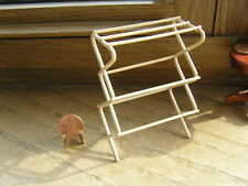 "Miniature Dollhouse Clothes Drying Rack    3 1/4"" High"