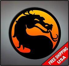 Mortal Kombat MK Vinyl Wall logo Decal Sticker nostalgia sub zero scorpion