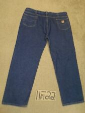 CARHARTT RELAXED 46X32 BLUE BIG-TALL JEANS MEASURE 37X32  -#CATT398