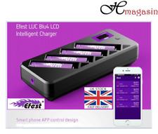 Efest LUC BLU4 Cargador de batería LCD de conexión Bluetooth para teléfono inteligente 18650