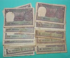 1 One Rupee Old Indian~Big Coin 50 USED FINE CONDITION NOTE~MIX YEAR & GOVERNER