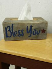 Handcrafted Americana Themed Large Facial Tissue Box Cover