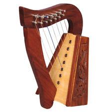 Muzikkon O'Carolan Harp, 7 Strings Rosewood Knotwork, Celtic irish harp