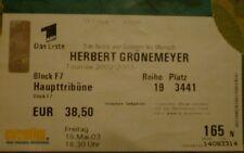 Ticket Herbert Grönemeyer , Wildparkstadion Karlsruhe , 16.5.2003