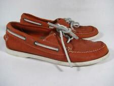 LL Bean Classic Boat Shoe Women size 7 Coral Suede
