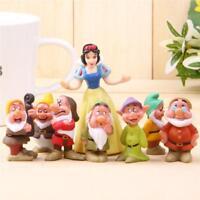 8 Piece Princess Snow White and the Seven Dwarfs Figures Cake Topper Toys Kids