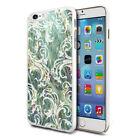 For Various Phones Design Hard Back Case Cover Skin - Light Green Flower