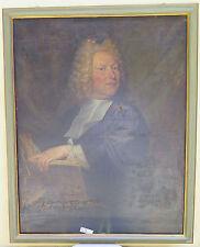 ANTICO RITRATTO DI NOBILUOMO QUADRO DIPINTO OLIO SU TELA FRANCIA 1700 XVIII sec.