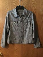 Tahari Charcoal Pin Tuck Jacket Coat Womens Tencil, 2X-Large