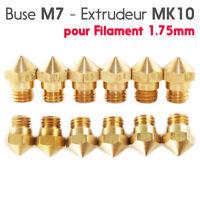 Buse MK10 0,2/0,3/0,4/0,5/0,6/0,8mm M7 pour Filament 1.75mm Imprimante 3D Nozzle