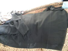 Vintage Beautiful Sheer Black Whale Hippie Boho LONG Dresser Table Cloth Runner