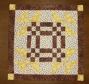 """Hitty or Kish Doll  Quilt : Measures  8 5/8"""" by 8 7/8""""  ~ GOOSE IN THE POND ~"""