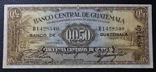 GUATEMALA BANKNOTE 50 Centavos, P.19a VF+ 1946