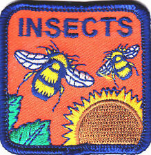 """""""INSECTS"""" PATCH - BEE - BUMBLEBEE - INSECT - IRON ON EMBROIDERED PATCH"""