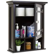 Best Choice Products Bathroom Vanity Mirror Wall Storage Cabinet (Espresso)