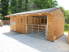 WOODEN STABLE FOR SALE - SHELTER FOR SALE 24 x 12 Stable/Shelter