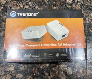 TRENDnet 500Mbps Powerline AV Adapter Kit NEW SEALED!