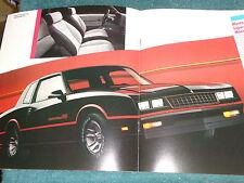 1986 CHEVROLET MONTE CARLO SS & MONTE CARLO SALES BROCHURE / ORIGINAL CATALOG!!!