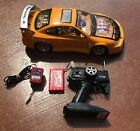 """MAXTECH Yellow Flash Shock Wave RC Tuner Car 1:10 Scale """"For Parts Only"""""""