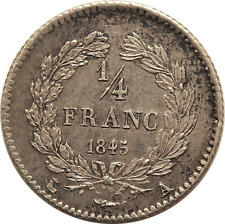 France 1845 A Silver 1/4 Franc - nice condition