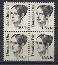 USA 1657 F Viererblock Persönlichkeiten: Dorothea Dix - Sozialreformerin 1983 **
