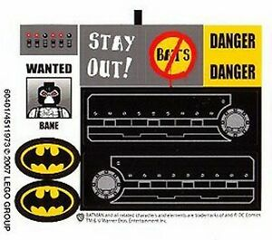 LEGO 7787 - BATMAN - The Bat-Tank The Riddler and Bane's Hideout - STICKER SHEET