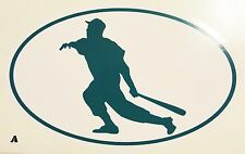 Sports Decals for Automobile Windows - Baseball - 3 for 1